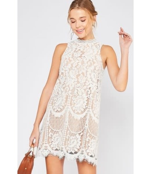 The Lacey Sleeveless Scalloped Dress
