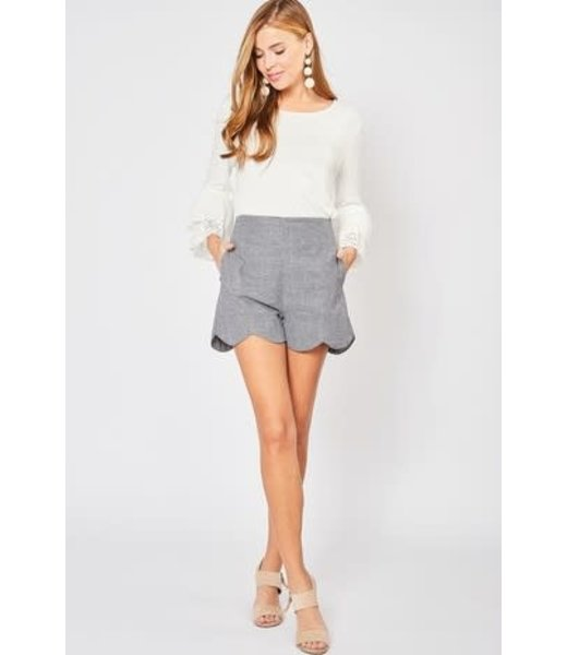 Sassy Scalloped Shorts