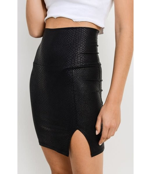 Love At First Bite High Waisted Snake Skin Skirt