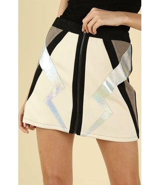 A Bold Strike Color Block Skirt