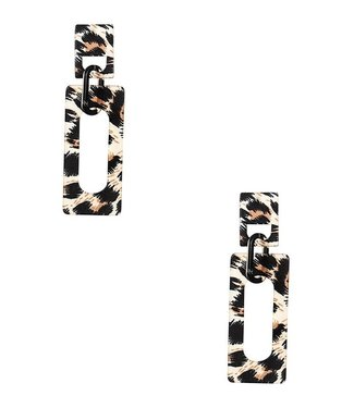 On The Prowl Animal Print Earrings