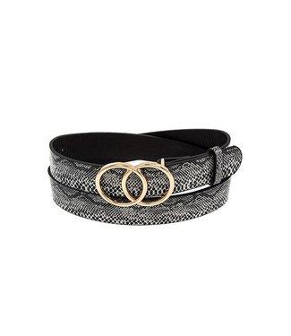 Double Circle Snake Print Belt