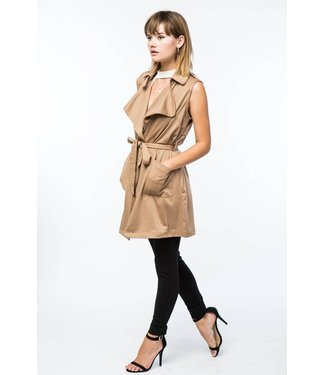 Natty Grace Watch Me Now Belted Trench Vest