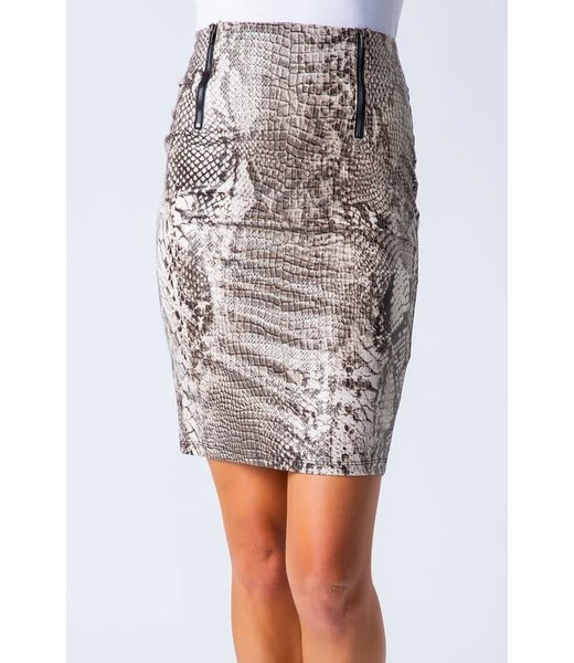 A Walk On The Wild Side Snake Print Pencil Skirt