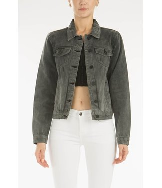 Natty Grace Charlotte Charcoal Denim Jacket