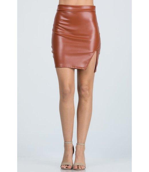 Natty Grace The Farrah Faux Leather Mini Skirt