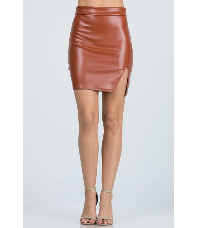Natty Grace The Farrah Faux Leather Mini Skirt