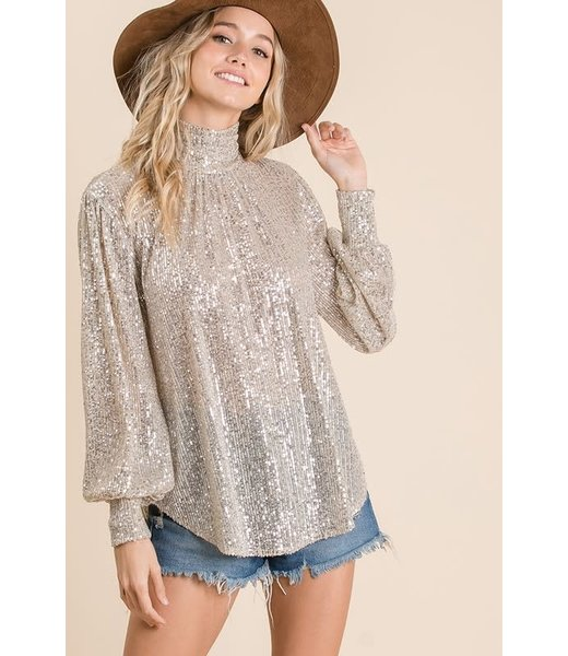 Light Up The Night Sequin Top (PREORDER: 12/26/19)