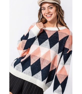 Natty Grace The Abigail Argyle Sweater