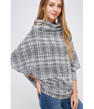 Natty Grace Born For Beverly Hills Dolman Cowl Neck Top
