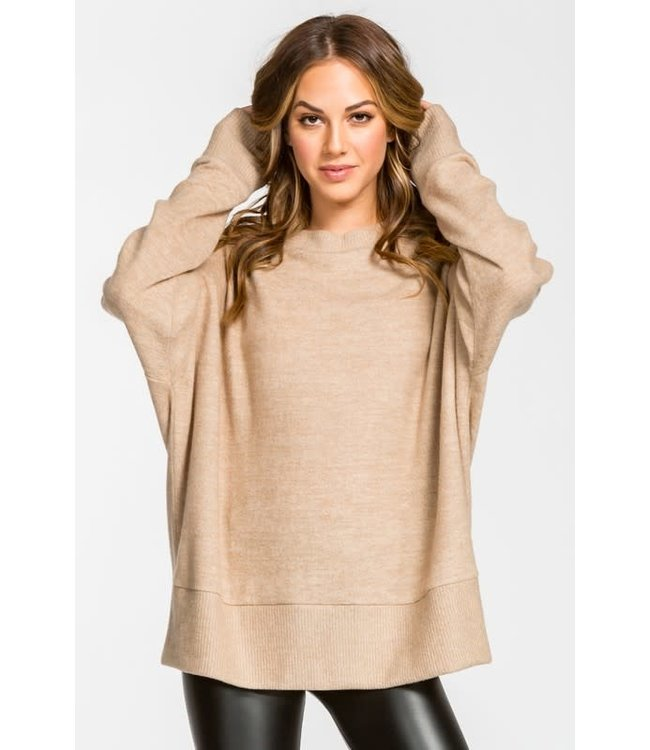Natty Grace Keep It Simple Knit Pullover Top