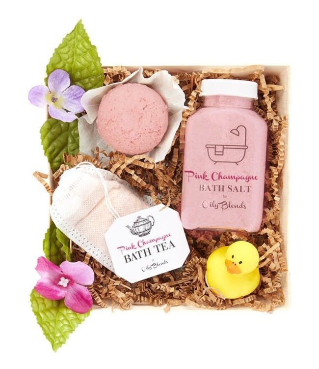 Natty Grace Hello Bubbles Goodbye Troubles Bath Gift Set