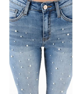 Natty Grace You're A Good Girl Pearl Studded Denim
