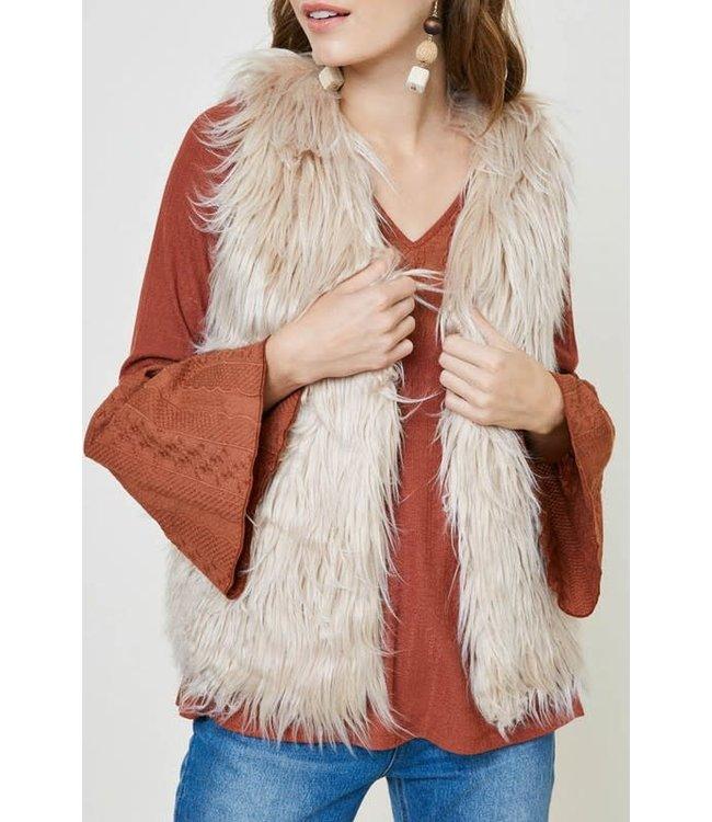 Natty Grace Fuzzy Feelings Faux Fur Vest