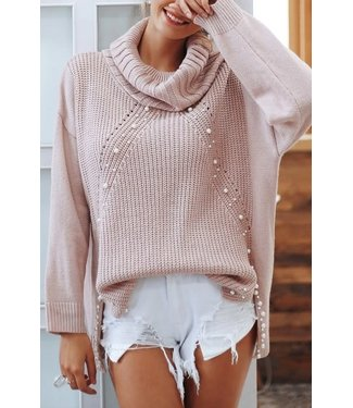 Natty Grace Up In The Clouds Pearl Detailed Sweater