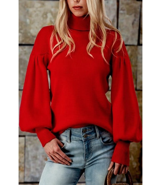 Natty Grace Express Yourself Puff Sleeve Sweater