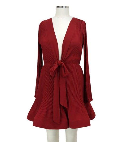 Natty Grace Feeling Rosey Ruffle Hem Dress