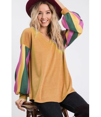 Natty Grace Jazzy Gal V Neck Top