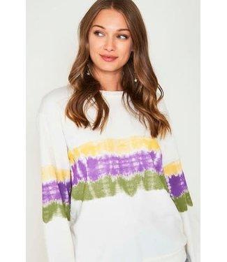 Natty Grace The Morgan Mardi Gras Tie Dye Knit Top