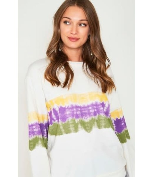 Natty Grace The Morgan Mardi Gras Tie Dye Knit Top