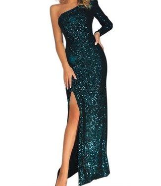 Natty Grace Lavish Life Sequin One Shoulder Dress