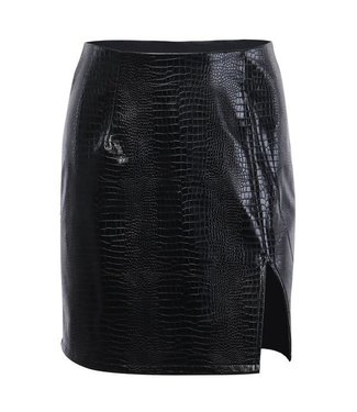 Natty Grace Teagan Textured Faux Leather Skirt