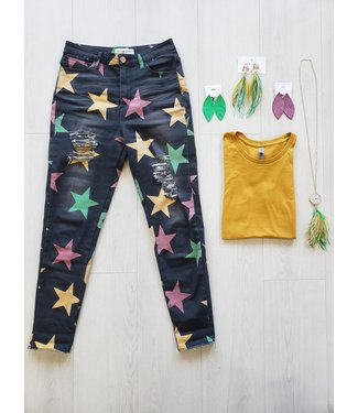 Natty Grace Krewe of The Stars Denim Skinnies