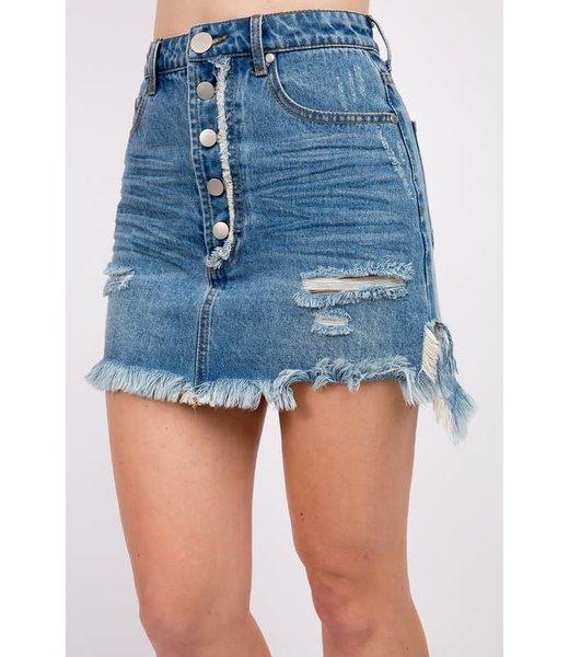 Natty Grace Destiny High Waisted Denim Skirt