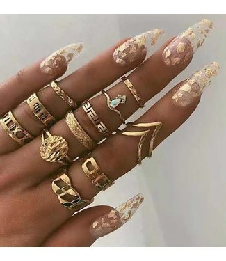 Natty Grace Boho Chic Ring Set (Pre-Order: 4/10/20)