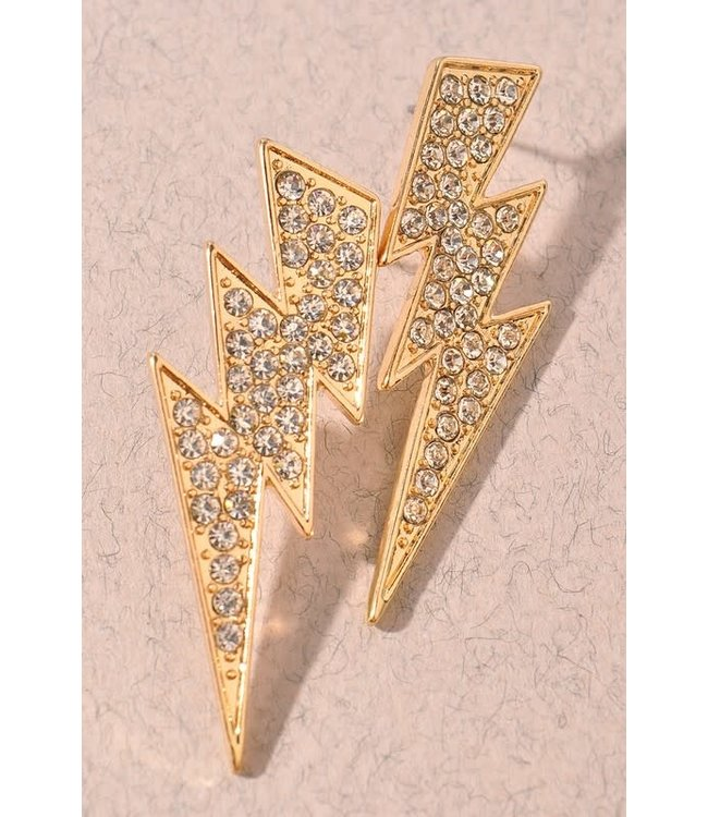 Natty Grace Lucky Strike Lightning Bolt Earrings