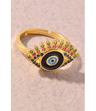 Natty Grace Evil Eye Ring