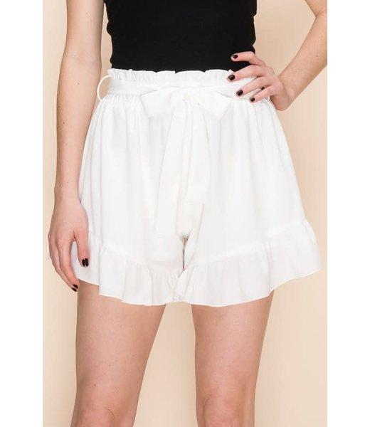 Natty Grace Mamma Mia Ruffle Hem Shorts