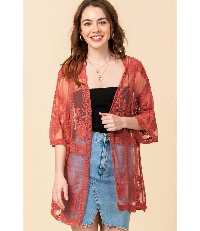 Natty Grace Girls Trip Lace Kimono
