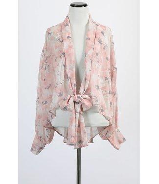 Natty Grace Take A Chance Floral Print Kimono