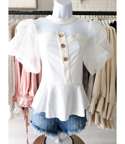 Natty Grace Just A Sample Statement Piece Blouse