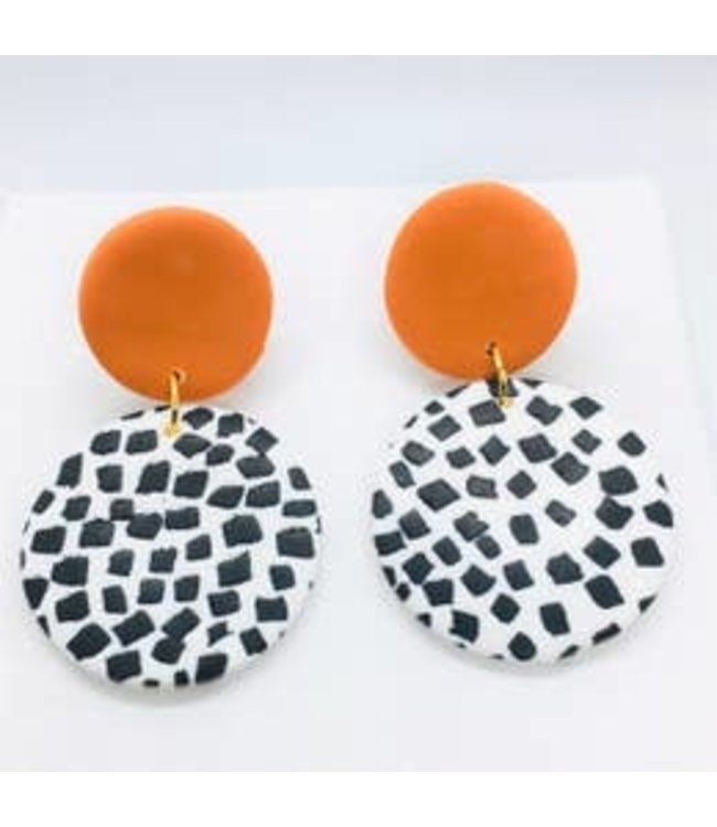 P U K K A by Natty Grace Stacey Spot Color Circle Earrings