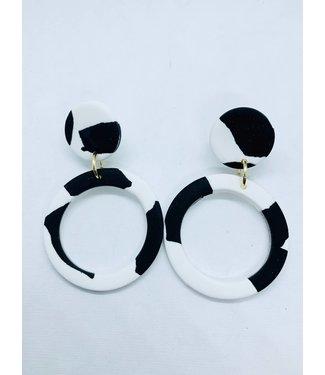 P U K K A by Natty Grace Cruella Hoop Drop Earrings