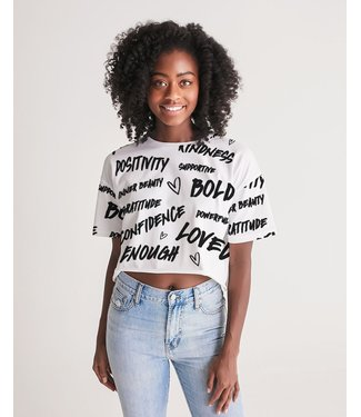 Natty Grace Original Positive Vibes Women's Lounge Cropped Tee