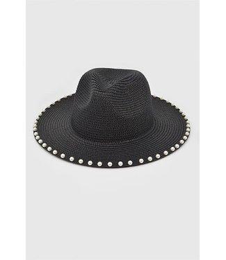 Natty Grace Pearl Studded Straw Hat