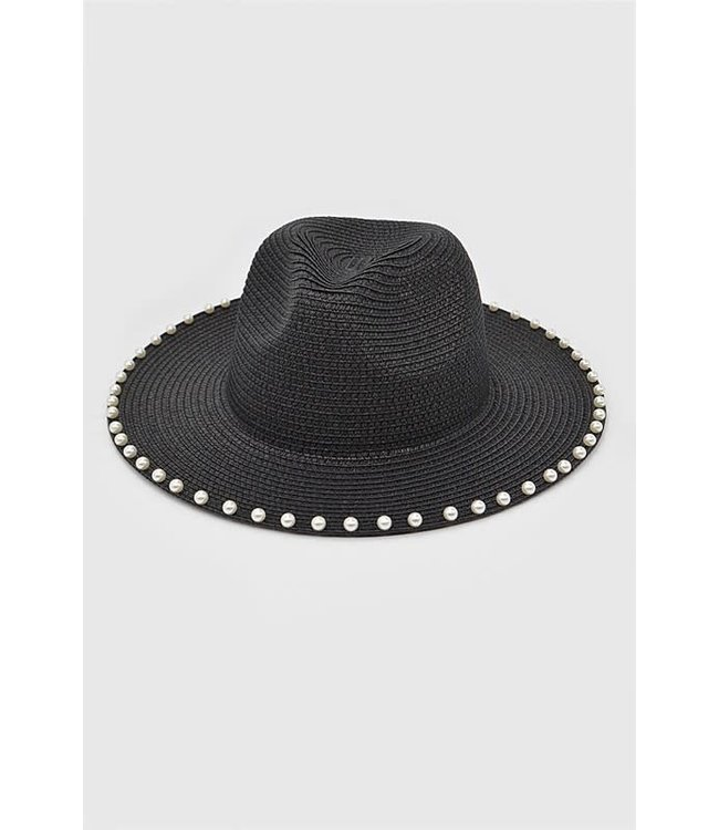 Natty Grace Pearl Studded Straw Hat