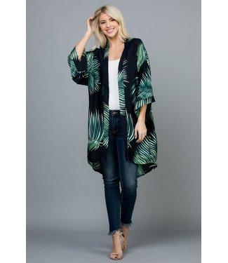 Natty Grace Meilani Palm Print Kimono