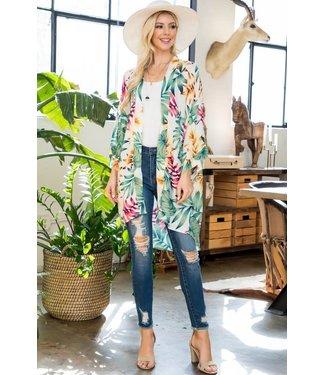Natty Grace Let's Go To Palm Springs Print Kimono