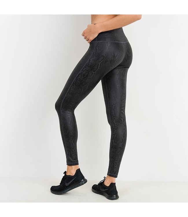 Natty Grace Up SCALE Snake Print Foil Highwaist Legging