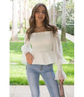 Natty Grace Riley Ruffled Off Shoulder Top