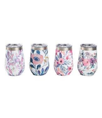 Natty Grace Floral Dream Wine Tumblers