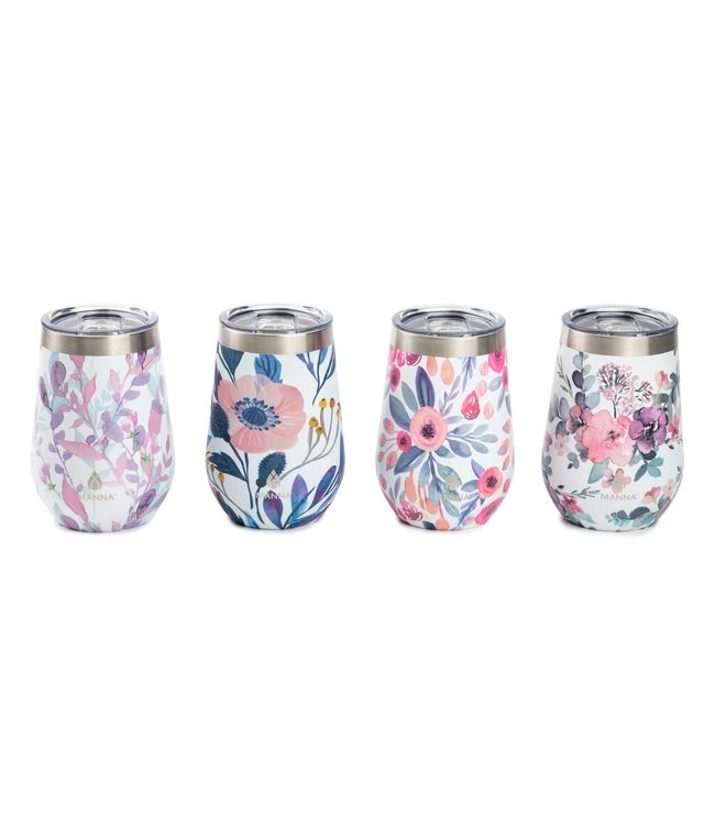 Natty Grace Floral Dream Wine Tumblers