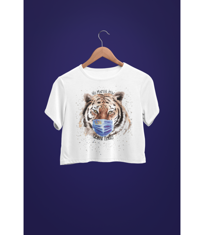 Natty Grace Original NG Original No Matter How Geaux Tigers - Watercolor Tiger Tee - LSU