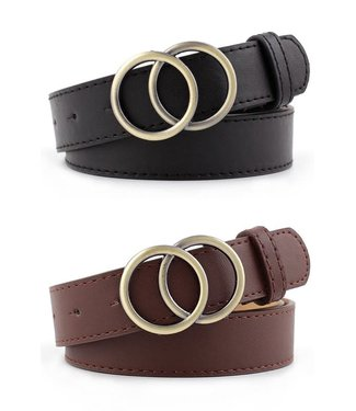 Natty Grace The In Crowd Double Circle Buckle Belt