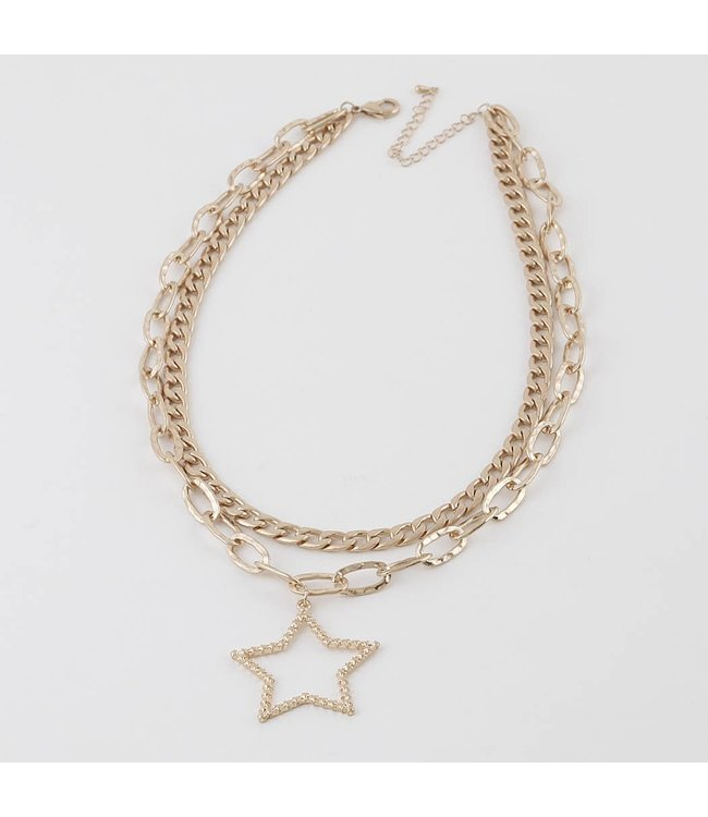 Natty Grace Twinkle, Twinkle, Little Star Multi Layered Chain Necklace