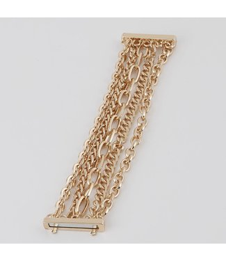 Natty Grace Let's Link Up Multi Layered Chain Bracelet